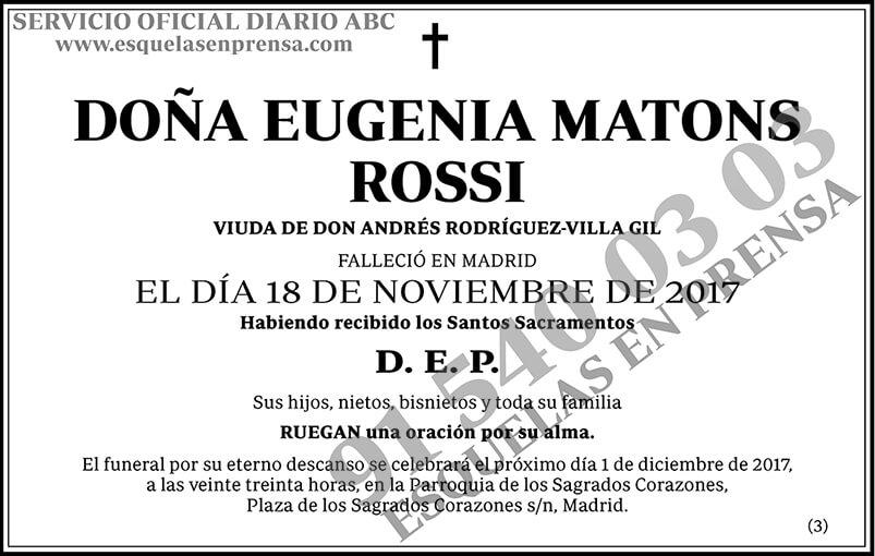 Eugenia Matons Rossi